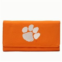 Clemson University Tigers polyester licensed wallet orange with embroidered logo $39.99