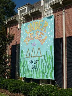 Delta Delta Delta Bid Day Banner Idea #DeltaDeltaDelta #BidDay