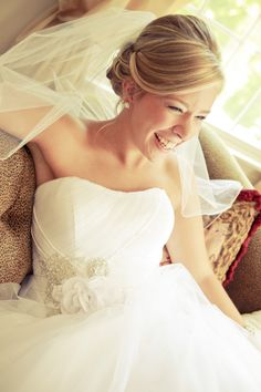 wedding hair - You can never go wrong with a classic up-do!