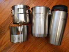 The Ultimate nesting Kit: Pathfinder Esbet Stove, Stanlet Cook Pot, Tapered Nalgene Stainless Steel Bottle, GSI Cup