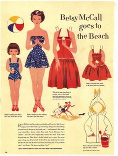 Paper Dolls ✿ Betsy McCall  ~~June 1951