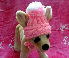 Pet Clothes Apparel Winter Outfit Hand-Knit Hat for Small Dog and Cat