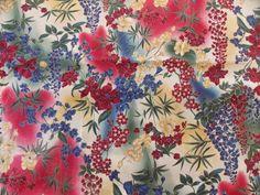 WtW Estate Fabric Hoffman Kimono Floral Garden Flower Nature Landscape BTY Quilt