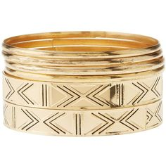 Charlotte Russe Gold Chevron-Textured Bangle Bracelets - 6 Pack by... ($6) ❤ liked on Polyvore featuring jewelry, bracelets, gold, gold hinged bracelet, gold hinged bangle bracelet, bracelet bangle, gold jewelry and gold bangles jewelry