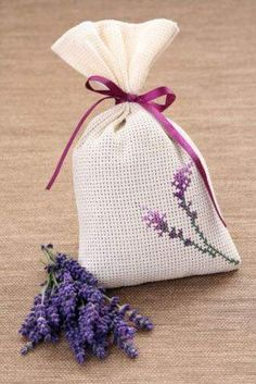 Lavender Crafts, Lavender Bags, Lavender Sachets, Cross Stitch Cards, Cross Stitch Rose, Cross Stitching, Cross Stitch Designs, Cross Stitch Patterns, Pot Pourri