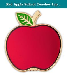 Red Apple School Teacher Lapel Pin. Red Apple Lapel Pin. This pin is highly polished, gold plated with beautiful red transparency enamel color in the apple and green enamel in the leaf. The apple has long been a symbol for teachers and educators. Reward and inspire your favorite students, teachers, or educators with this symbolic red apple. It includes a clutch back and is individually poly bagged.