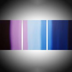 "Purple Flats triptych 3 panel wall art colorful images 3 panel canvas wall abstract canvas pop abstraction 54 x 24 "" Acrylic painting by Stuart Wright 3 Piece Canvas Art, Canvas Wall Art, Acrylic Painting Canvas, Abstract Canvas, 3 Panel Wall Art, Triptych Art, Purple Flats, Texture Painting, Simple Art"