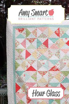 Shop by Amy Smart — Hour Glass Quilt Pattern by Amy Smart Beginner Quilt Patterns, Star Quilt Patterns, Quilting Tutorials, Pattern Blocks, Quilting Projects, Quilting Designs, Sewing Projects, Sewing Ideas, Beginner Quilting