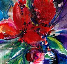 Floral Fantasy .. 13 ... Original by KathyMortonStanion on Etsy