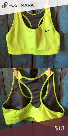 Nike sports bra Neon yellow Nike sports bra. Excellent condition! No rips, stains or tears. No trades please! Nike Other