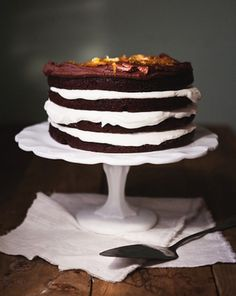 Chocolate and Orange Layered Cake