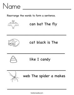 Rearrange The Words To Form A Sentence For The Children