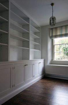 Traditional shaker style painted storage in a Georgian house in Bath by work//shop