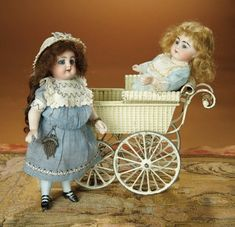 Bread and Roses - Auction - July 26, 2016: 262 German All-Bisque Miniature Doll, 886, by Simon and Halbig