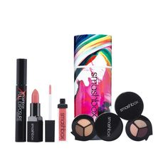 Smashbox studio set Includes:lipgloss- disco rose, lipstick primrose, 2 eyeshadow trios, full exposure mascara. $79 value! Lipstick, gloss and mascara are all full size! Smashbox Makeup Eyeshadow