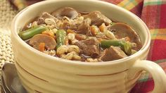 Somehow barley makes every stew better, and it's the same with this satisfying blend of beef,  vegetables, and simple seasonings.