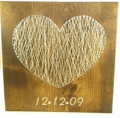 String Art Anniversary Heart With Date