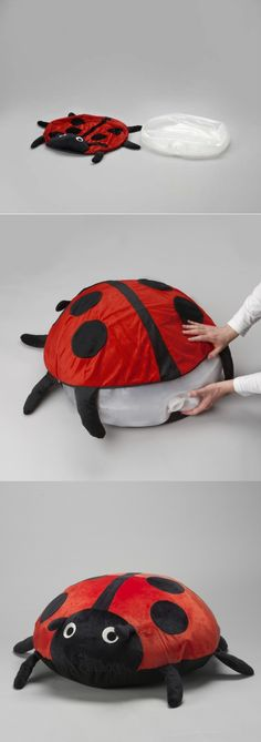 SAGOSTEN - A ladybug cushion you fill with air from a blow dryer!  It not only provides endless fun, but also helps your child develop their balance and motor skills.