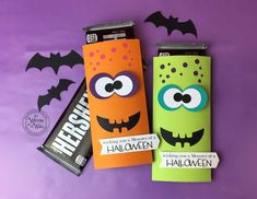 15 New Halloween Treat Boxes & Candy Bar Wraps/Candy Cards -Gotta See ALL!!!!