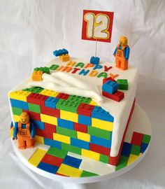 lego birthday cakes for boys Lego Themed Party, Lego Birthday Party, 12th Birthday, Cake Birthday, Birthday Ideas, Birthday Boys, Lego Torte, Bolo Lego, Bolo Cake