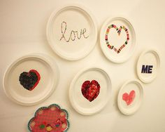 Plates on the wall, DIY