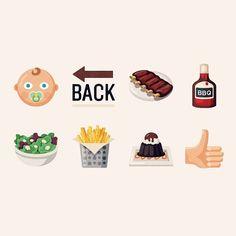 BBQ Emoji for a southern restaurant chain that sports top notch barbecue.  by zachroszczewski