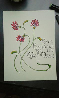 Citation de Marguerite Yourcenar #flow #citation #flower #artenouveau #bonheur
