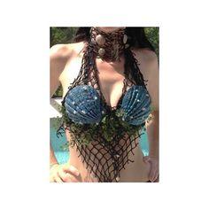 Crazy Costumes, Scary Halloween Costumes, Halloween Cosplay, Mermaid Bra, Mermaid Outfit, Mermaid Makeup, Halloween Inspo, Halloween 2017, Siren Costume