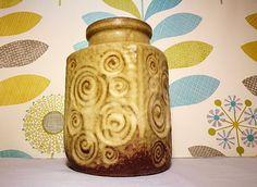 Keramic Jura vase, Fossil pattern vase, WGP Scheurich 282-16, Stone colour, West German vase, Mid century Keramic vase, Mid century Modern