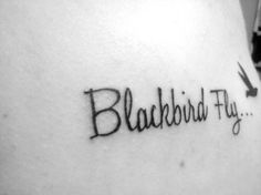 A whole website with Beatles inspired tattoos Swallow Bird Tattoos, Black Bird Tattoo, Bird Tattoo Wrist, Lotus Tattoo, Dream Tattoos, Love Tattoos, Body Art Tattoos, Tatoos, Beatles Tattoos