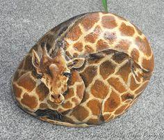 Painted Giraffe rock