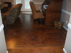 Stained & Painted Concrete Floors