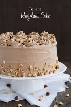 Banana Hazelnut Cake is the perfect combination of banana, chocolate, and nuts.