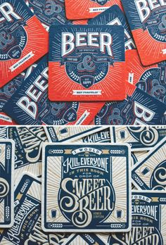 Letterpress Collector's Beer Coasters from Beer Press