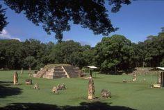 Plaza de las Estelas. Copán, Honduras