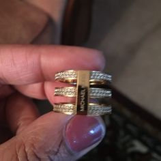 Michael Kors Pave Gold Ring It's a beautiful ring! I only wore it twice...the ring is in excellent condition! And sorry but I do not trade. Michael Kors Jewelry Rings