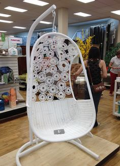 Good thing this chair had a SOLD sign on it because no matter the cost, I would be powerless to resist...  Home Goods of course.