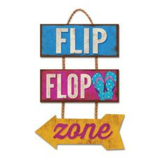 Flip Flop Zone Trio Hanging Sign