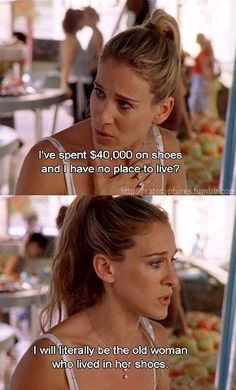 10 Times Carrie Bradshaw was totally relatable. These quotes are GOLD