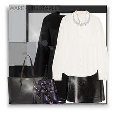 """Wardrobe-Stable: White Tee"" by byjjbh ❤ liked on Polyvore featuring Valentino, Vanessa Bruno, MICHAEL Michael Kors, Yves Saint Laurent, WardrobeStaple and GuruHunter"