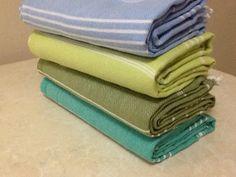Set of 4 Pcs Turkish Towel  Bath Hammam Fouta Peshtemal by muzey, $54.90