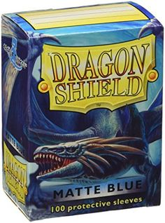 Collectible Trading Card Booster Packs - Dragon Shield Matte Blue 100 Protective Sleeves *** You can find out more details at the link of the image.