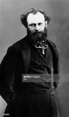 French painter Edouard Manet (1832-1883) ~ portrait circa 1875.