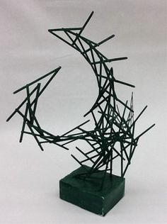 WHAT KIND OF LINE? WIRE SCULPTURE STUDENT EXAMPLE Artsonia Art Museum :: Artwork by Joshua12737