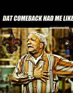 But a W is better than a L anytime! Who Dat! Saints Game, Nfl Saints, New Orleans Saints Football, Funny Football Memes, Down In New Orleans, Who Dat, Football Team, Football Fever, Win Or Lose