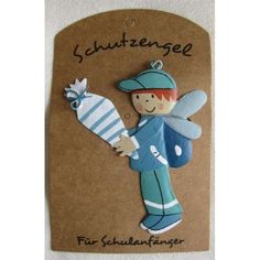 "Schutzengel ""Für Schulanfänger"" Smurfs, Fictional Characters, Amp, Paper Mill, Guardian Angels, Entering School, School, Cards, Creative"