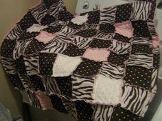 Pink Zebra - Baby Quilt. $65.00, via Etsy.