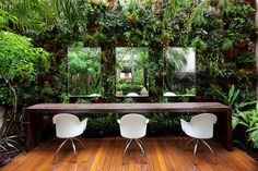 """""""The First Eco-friendly Hair Salon in Brazil""""... Lost at Eminor. Stylist Marcos Proença  """"His place offers an unique experience combining beauty and elegance and has innovated with sustainability by contributing effectively to the low use of energy and water, selective garbage collection, LED lights, and large windows in the architectural design which offers constant natural lighting for the interior of the building.""""…"""