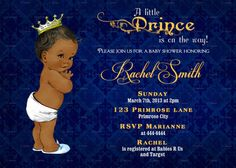 African American Baby Shower Invitation by CuddleBugInvitations