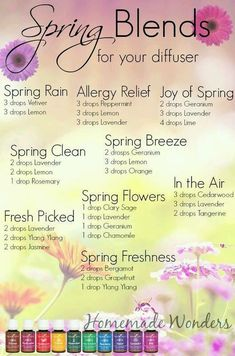 Spring Blends for your diffuser